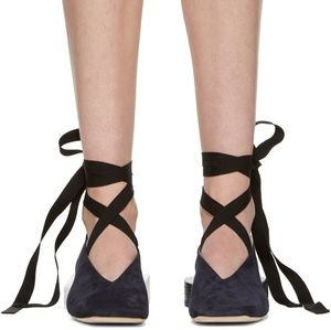 Jacquemus Les Chaussures Lacees Ballerina Flats